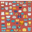 Large set of colorful doodle fashion bags vector image