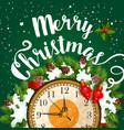 merry christmas holiday greeting card vector image