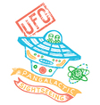 ufo print for kids vector image