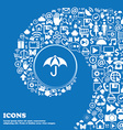 Umbrella icon sign Nice set of beautiful icons vector image