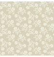 Seamless beige flowers background vector image vector image
