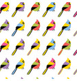 seamless pattern with color birds vector image