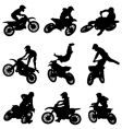 motor cross freestyle set vector image