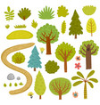 Forest trees collection vector image
