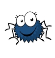 Cute little spiky cartoon spider vector image