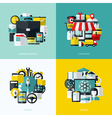 Flat icons set of financial services e-commerce vector image