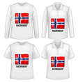 Norway shirt vector image