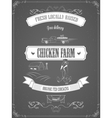 Chicken Farm Vintage Advertisement Poster vector image