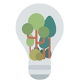 Light bulb with trees inside vector image