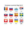 European countries flags set 4 vector image vector image