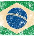 Brazil retro flag vector image vector image