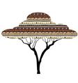 Abstract tree African savanna vector image