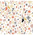 Christmas Seamless Pattern Hand drawn design vector image