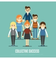 Collective success banner with business peole vector image