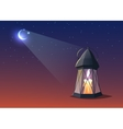 illuminated colorful ramadan lantern vector image