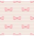 Seamless pastel pink bows decoration wallpaper vector image