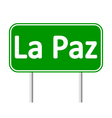 La Paz road sign vector image