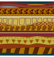 Tribal pattern seamless texture vector image