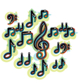 Abstract music note vector image vector image