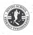 scuba diving school vector image