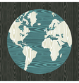 World map shape in wood vector image vector image