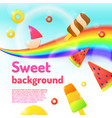 background for a children store and creativity vector image