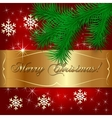 Red Christmas Holiday Greeting Card vector image