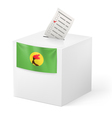 Ballot box with voting paper Zaire vector image