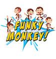 Funky monkeys vector image