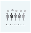 Businessman standing out from the crowd vector image vector image