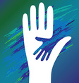 hand of the child vector image vector image