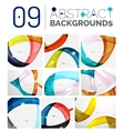 Set of smooth abstract backgrounds vector image