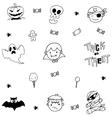 Doodle of ghost halloween vector image