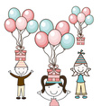 birthday party vector image