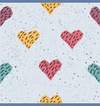 cute hearts background seamless pattern with vector image