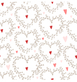 Hand drawn pattern with wreaths and hearts vector image