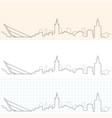 seville hand drawn skyline vector image