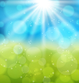 Sunny natural background with lens flare vector image