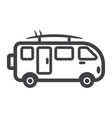 surfer van line icon transport and vehicle vector image