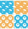 Umbrella pattern set colored vector image