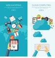 Flat cloud computing vector image