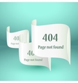 404 Error file not found on website page vector image vector image