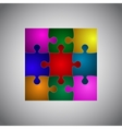 Color Puzzles Piece JigSaw Object - 9 Pieces vector image