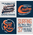 set of tee shirt print designs vector image