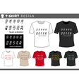 t shirt design with emoticons vector image