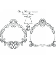 Vintage set of Baroque Royal frames vector image