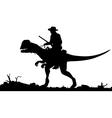 Prehistoric cowboy vector image vector image