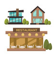 flat set of modern urban architecture vector image vector image