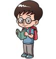 Boy go to school vector image vector image
