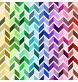 Seamless geometric pattern colorful mosaic vector image